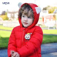 lavla 2017冬装新款童装男童儿童棉服宝宝小童上衣棉袄外套