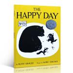 顺丰发货 The Happy Day 快乐的一天 Ruth Krauss(露丝・克劳斯)凯迪克银奖 大开本 适合4-8