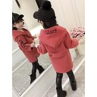 女童毛呢外套韩版洋气外套公主儿童秋装中长款妮子大衣潮