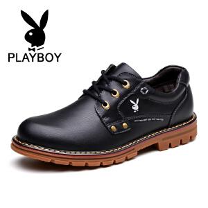 花花公子 男鞋新款潮鞋英伦工装鞋低帮日常休闲鞋 征-CX39105