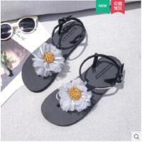 夹趾人字拖凉鞋女新款仙女风鞋搭长裙子的鞋子平底沙滩鞋
