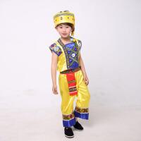 儿童演出服装 少数民族男童 葫芦丝苗族壮族傣族舞蹈服装