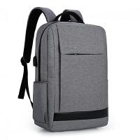 男士商务背包电脑包15.6寸双肩包男笔记本14寸惠普华硕双肩背包女