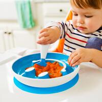 【当当自营】满趣健(munchkin)笑脸吸盘训练盘训练勺 婴儿辅食盘宝宝辅食勺餐具