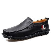四季男士豆豆鞋真牛皮鞋复古手工鞋防滑休闲鞋男鞋套脚驾