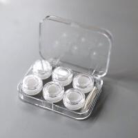 加厚干净透明三副装隐形眼镜三副装伴侣盒多副装美瞳盒双联盒d 透明