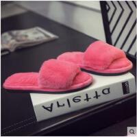 冬季棉拖鞋女冬天居家居室内保暖防滑简约包跟月子毛毛拖鞋女