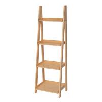 美式实木书架置物架展示架陈列架落地简易靠墙客厅梯形花架多层架