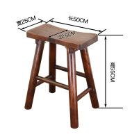 实木吧台椅餐椅家用复古原木酒吧椅简约休闲高脚凳子前台椅书房椅