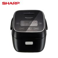 夏普(SHARP)微电脑电饭煲 2L复合内胆 24H预约触摸操控 多功能智能电饭锅 KS-D20FGA-B 玄雅黑