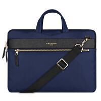苹果笔记本小米12air13.3公文袋mac女13寸pro男士手提商务电脑包 倾心紫 11寸