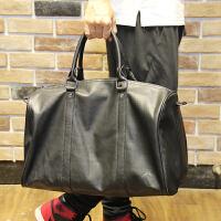 欧洲站男士旅行包大容量手提斜挎包男韩版商务出差单肩包行李包 黑色