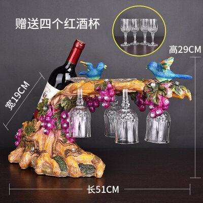 酒柜上放的装饰品 北欧红酒架摆件客厅酒柜装饰品家居创意摆设马工艺品乔迁礼品