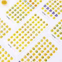 Emoji表情贴纸 苹果横版含新表情翻白眼含660个迷你小表情 12张入*5