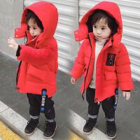 男童冬装中长款棉衣外套小童冬季儿童男宝宝棉袄