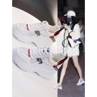 厚底老爹鞋女户外时尚韩版网面运动鞋ins潮百搭内增高小白鞋