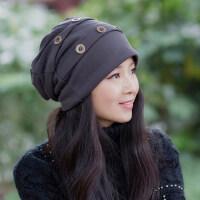 帽子女韩版潮时尚百搭包头堆堆帽时尚月子帽冬帽