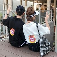 情侣装夏装新款卡通印花翻领短袖T恤韩范休闲半袖POLO衫
