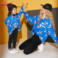 【3折到手价:91】妖精的口袋天鹅与海冬装新款童装亲子装木耳边蕾丝衬衫女