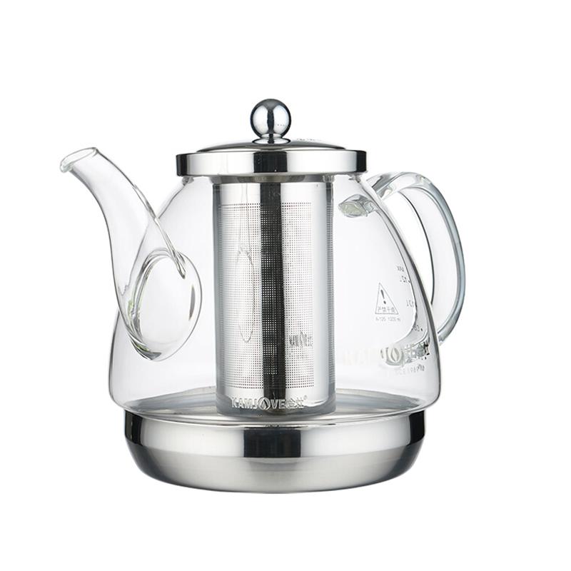 KAMJOVE/金灶 电磁炉专用玻璃壶不锈钢内胆过滤烧水壶花茶壶