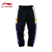 李宁卫裤男士运动时尚系列休闲裤子男装针织运动长裤AKLP847