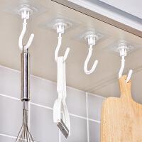 厨房挂钩无痕粘贴门后免打孔粘钩挂钩强力粘胶贴墙壁壁挂承重吸盘