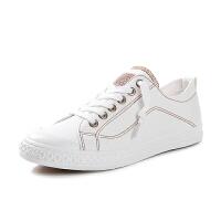 帆布鞋女 学生韩版白色板鞋女 原宿小白鞋ulzzang平底鞋子女