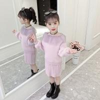 冬季韩版女童装两件套超洋气儿童裙子女童连衣裙时髦套装