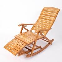 楠竹躺椅折叠椅单人午休竹靠椅实木摇摇椅阳台家用休闲午睡椅老人