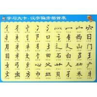 汉字偏旁部首表/学习大卡
