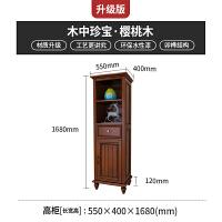 美式乡村单门酒柜实木高酒柜欧式风格家具餐边柜装饰柜美式家具 单门