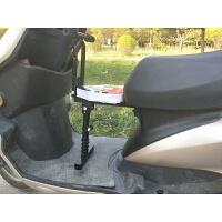 踏板车电动摩托车电瓶车助力车前置儿童座椅可折叠 宝宝安座椅新品 减震座椅+扶手 卡通红色