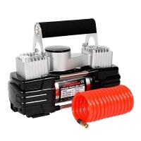 大功率金属双缸汽车打气泵12V 车载充气泵 迷你车用充气机