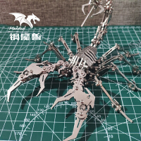 钢魔兽拼装模型3d立体金属拼图成年手工不锈钢机械组装高难度玩具