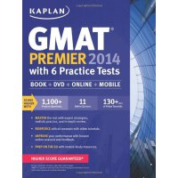 Kaplan GMAT Premier 2014 with 6 Practice Tests: Book、DVD、On