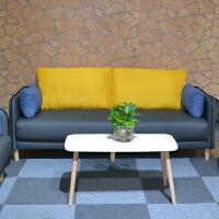 办公沙发简约现代商务休闲套装办公室接待室会客区三人位茶几组合