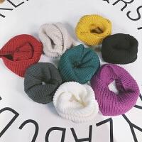 全棉针织围脖 定制儿童围巾秋冬季女宝宝围脖针织脖套儿童