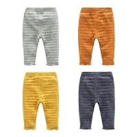 婴儿裤子春装女童打底裤修身1岁3个月宝宝男童休闲长裤
