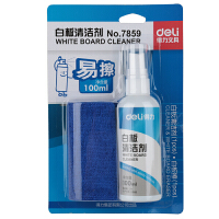 得力7859 白板清洁剂 7823白板球面磁钉直径15mm 7859白板清洁剂