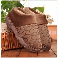 冬季老人橡胶厚底防滑全包跟棉拖鞋中老年加厚男女包脚跟保暖棉拖
