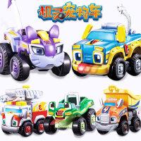 奥迪双钻精灵机灵宠物车合金阿宝妙妙儿童惯性趣味反斗车男孩玩具