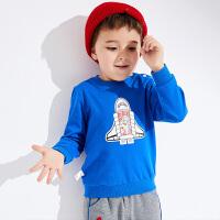 【2件3折到手价:44.4】小猪班纳童装男宝宝卫衣2019秋季新款男童长袖T恤休闲套头上衣棉