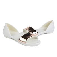 Crocs卡骆驰莉娜花朵闪亮奥赛鞋沙滩凉鞋女鞋 205140 莉娜金属贴片奥赛鞋