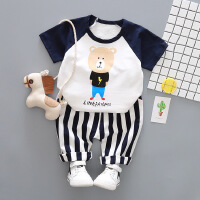 男童女童洋气短袖套装宝宝夏装小童装0小孩2婴儿衣服4儿童1-3岁潮