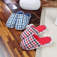 拖鞋男女居家居室内保暖防滑包头拖鞋情侣棉拖鞋