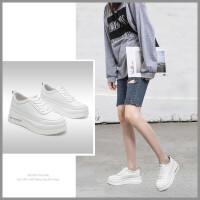 【厚底4厘米】新款透气女休闲鞋厚底女士运动板鞋小白鞋女鞋