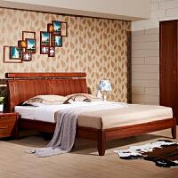 御品工匠 现代中式实木床 1.5 1.8米双人床 储物高箱床 0126