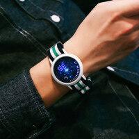 韩版女款时尚手表 LED夜光电子表 潮流学生表 男表皮带迷图触屏腕表
