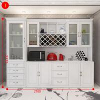 酒柜现代简约欧式餐厅橱柜餐边柜北欧储物柜家用靠墙收纳柜碗柜 单门