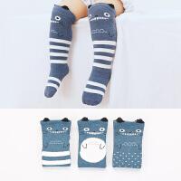 春秋婴儿长袜宝宝长筒袜子0-1-3岁纯棉新生儿男女中筒过膝高筒袜